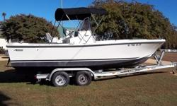 Classic 1978 Mako 23 Inboard for Sale. This is a classic.A real Head turner. She has a 350 Mercruiser Inboard, 260 hp.It will get up and go when you need it. A Rebuilt 4 barrel carburetor installed 11/14. Has a full engine flush for easy clean out and
