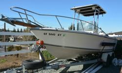 1979 Robalo 200This outboard sportsfisherman is 19.42 feet long and weighs 2130 (pounds dry). The beam of this craft is 96 inches. The horsepower for this boat is 200 hp . You are looking at a very well optioned center cockpit Fishing boat that is ready