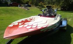 Cole 18' Bottom Runner Blown Drag BoatChevy 468 Cubic InchesBlower Drive Service 671 BlowerTwin 850 Holley CarbsVertex Magnito IgnitionCasale V- Drive with WhirlawayThis is an extremely fast boat. It is beautiful inside and out. It does have some cracked