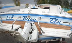 This California boat is a rare find. With it's unique classic style, everyone will be gawking at this beauty. Runs great! Unfortunately selling assets. This boat also has a private under deck room area as well. Equipment 1 trailer 2 Covers All life