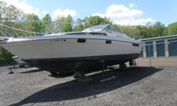 Here is a great family cruiser. 28' Bayliner with twin Merc 400's. Aft cabin, full galley and head, new headliner, vinyl and carpet. Depth Finder and Garmin Chart included. Sleeps 6 comfortably. Needs just a little TLC. Has been in dry dock for 3 years.