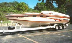 1982 Monterey 30' Sleek Craft Fresh Water Boat Like New...Looks New 2 New Chevy 502 Engines Only 20 Hours on Engines Engines Chromed Out 4 Nitrus Tanks 2 Sets of 2ea Stainless Steel Props Left Wheel Drive Rolled & Pleated Interior Teakwood In Cuddy Ice