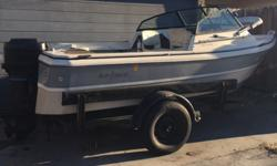 16 ft Well-built Family/ fishing boat strong Mercury 50 hp outboard last used in June 2015 both carbs on engine need to be rebuilt I don't have the time need the space in my yard need to get rid of it I am the original owner. it has a Tri V hull all