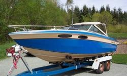 One of a kind 1984 Chris Craft Scorpion 230 powered by a 454 BBC this boat will easily do 60+ mph and is very comfortable and stylish. Unlike most cuddys this one you can sit upright and is over 8ft long for plenty of room. A perfect family/fishing boat