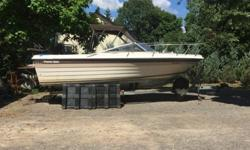 Excellent running condition, full cushion interior and cuddy, setup with down-rigger and plainer boards, well maintained, new fish finder with northeast region GPS map chip, stand up bimini top, other canvas covers, new tires on galvanized low rider easy