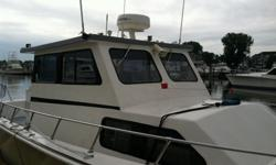 """BOAT IS A FULL WALKAROUND BUILT FOR THE NAVY BY UNIFLITE. KEVLAR HULL 2- STAINLESS FUEL TANKS 100 GAL. EACH HAS 2 NORTHSTAR 6000I 10 """" CHART PLOTTERS , FURUNO 1100 FISH FINDER 1 KW , ICOM 506 VHF .STANDARD HORIZON HAILER , 4KW NS RADAR , SIMRAD REMOTE"""