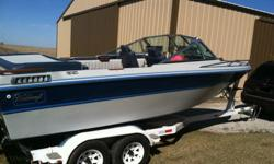 1985 Webbcraft. 20' overall length. Measurement doesn't include swim deck. Wood has been teak oiled every year. Boat is in great shape. Brand-new 350 professionally installed July 5th, 2014. The motor is warrantied until July 5th, 2016. The motor has 16