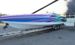 -1985 WELLCRAFT EXCALIBUR 42'-HULL HAS AROUND 298 HOURS ON IT-I HAVE PICTURES OF THE BOAT BEFORE WRAP FOR PURCHASER PAINT WAS 8 OUT OF TEN AND HULL WAS IS FOR SURE AN 8 OUT OF TEN, BOAT HAS A PRETTY MUCH NEW LAMINATED WRAP TO PREVENT AGAINST SUN FADE AND