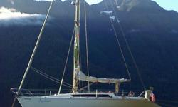 Tony Castro designed racer/cruiser with beautiful teak interior is a Desolation Sound veteran. She?s roomy enough to sleep 10, with 3 double cabins and 4 single bunks. 27hp Yanmar 3GM30, Folding Prop, Autopilot, GPS Chartplotter, Radar, VHF, Stereo, New