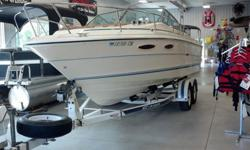 1986 Sea Ray 23 foot. Sport Fish Model. One owner & is a classic. Excellent condition. Nice and clean Cuddy Cabin. Only 339 Hours. 200 Horse Power/inboard (5.7 Cobra) Comes with trailer in photo and comes with full cover for travel has a Bimini top in