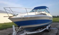 Beautiful Gently used Craft- only item that dosent work is the horn- minor cosmetic issues that are evident in photosI am second owner, first owner used boat to fish and give his grandkids rides on sodus bay- I have only launched and used boat twice-