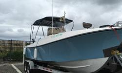 ,,,,,,,,,24.6 with Yamaha 225 excel and 2013 Venture trailer with brakes.This thing is awesome. This boat is turn key and ready to fish. We caught a lot of tuna and rockfish. Boat will go 30+ mph and is solid. only needs whatever electronics you want to