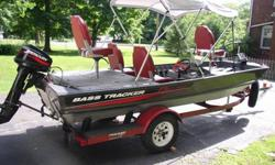 1987 16 ft. Bass Tracker Boat Loaded with all the best equipment and in very good condition. Has not been used much and was stored inside most of the time.The equipment list on this boat is pretty extensive and all in excellent working order. I will do my