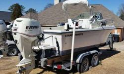 Description:? 1987 Grady White 204 C, 2007 200 hp Evinrude E-Tec outboard main motor 260 hours, 2008 Honda 25 hp four stroke kicker motor with letdown bracket 1 hour on Honda. The Evinrude had its 200 hour service and complete inspection. Best running