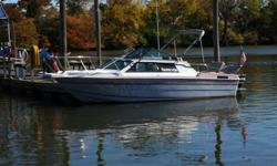Enjoy the Season in this classic Marathon Sunblazer cruiser which is 23? long with an 8? beam. A great family boat for having fun on the water, fishing or just tooling around. It is just the right size for occasional overnight excursions. It is in good