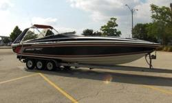 THIS IS A 1988 SONIC 30 SS PERFORMANCE BOAT COMPLETE WITH TRI-AXLE TRAILER. THIS BOAT HAS BEEN IN THE UPPER GREAT LAKES SINCE NEW AND NEVER USED IN SALT WATER. THE SONIC WAS A BANK REPO THAT WE PURCHASED IN A PACKAGE WITH ANOTHER BOAT. THE BOAT FEATURES