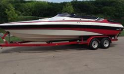 One of a kind 1988 Wellcraft Concept Scarab for sale. You won't find another one like it on the lake. Brand new 455hp (from Muscle Marine) Mercruiser 454 installed last spring. Interior is original and in mint condition for its age. Boat only has 300