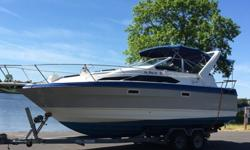 ..,,,89 bayliner 2655 9.6 wide nice and roomy boat, inside and outside. You can remove all tarps and be in the sun or just leave them up and be out of the sun you can also unzip back part and fold up and have sun in back. tarps and windows are all new 4-5