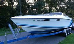 1989 Baja sport 280 with twin 454 FRESH water cooled mercruiser's 7.4 365hp motors with bravo 1 outdrives!1 new Bravo outdrive Boat motors have about 200 hours on each of them.. boat has 500 hrs on itDrives have stainless steel 3 blade propsBoat