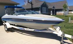 For sale is a 1989 Bayliner 1901 in very good condition with LOTS of upgrades. It sits on a 1996 Shorelander matching trailer with very good rubber left on the tires. Just installed a new color matched Bimini top that has yet to be used out on the water!