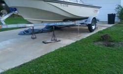 This is a 18 ft Boston Whaler Hull & Trailer .No Motor .No Electronics.Not been bottom painted ,comes with a new bimini top ,Stainless railing ,Floors & Transom are Solid ,Trailer is ready for any type of road trip it has new springs, axle and new tires