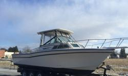 Here is a beautiful Grady White Sailfish with twin Yamaha Outboards and only 504 hours. Boat runs and drives great as shown . Dual fuel tanks 73 gal and 125 galoil injected Yamaha 2 strokes504 hoursCanvas enclosureVHF, Spreader lights and 2 new