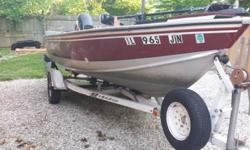 "1989 Lund Predator1996 50 HP Mercury 4 strokePower trim16' 6""30 gallon live well/ Bilge pump15 gallon fuel cellTrolling motor2 batteries 2 yrs oldOn board charger3 swivel seatsLowrance fish finderNew trailer tires 2016Wave WhackersLots of storageGarage"