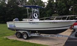 1989 Robalo 2320 Center Console Length 23'. Beam 8'Engine: 2000 Yamaha OX66 SX225TXRY 2 Stroke with Fuel Injection Saltwater Series 225 Horsepower.Power trim / tilt controls on throttle at console and on engine. Water hookup on engine. Maximum HP allowed