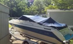 89 Sea Ray CC 230.Newly upholstered , with new snap in carpet. Porte potty, Clean 5.7 Mec, Fresh oil change and tune-up. Breaks and tires are at 90% on a E-Z load trailer. Have all records from the past. . All life jackets and vest along with ropes and