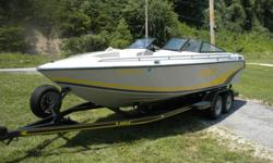 1990 BAJA ISLANDER 226 (ONLY 307 HRS)I AM PROUD TO OFFER THIS 1990 BAJA 226 WITH RARE OPEN BOW.THIS BOAT HASNT BEEN LICENSED SINCE 2008 TILL NOW.TO START WITH THE HULL IS IN EXCELLENT CONDITION.GELCOAT HAS A HIGH GLOSS SHINE.IT HAS NEVER SAT OUTSIDE.THE