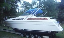 1990 32' Chris Craft American Cruiser with twin 454 Chevrolet marine V8's. When I last had it running about 6 and a half months ago it ran great, all the instrument panel functioned as they should. Folks, this is not, I repeat, NOT a project boat, however