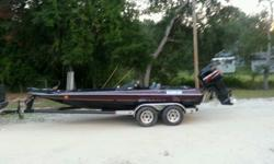 1990 gambler bass boat with a 1996 mercury 225 efi 3.0 boat is in great shape for its age is water ready but could use a little tlc,such as-just got new black carpet installed the day after it was put in it rained causing the floor not to dry all the way