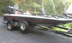 1990 17.5 ft. Hydro-Sport Bass Boat 150 HP Evinrude Motor - (House Springs) MO. Pick Up Only House Springs, Missouri NO SHIPPING* 3 Live wells* Power trim* Cooler welll* Motorguide foot pedal operated trolling motor* Bilge pump* New Start battery* 2