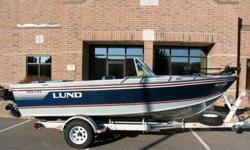 Engine longevity, fuel economy, smoke/fumes and quiet operation are all of the benefits of a 4-stroke engine. Mix the 4-stroke engine with Lunds legendary quality build and you have a great fishing boat that will last forever.This boat is a 1-owner boat