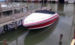 I have a 1990 Wellcraft 23 ft with a cuddy (small sink and alcohol stove). The boat has a 5.7 liter mercruiser (that runs perfect) and includes a removable shade top, custom snap on cover, Lowerance Elite-5 GPS/Fish finder, 2 anchors, ropes, dock bumpers,