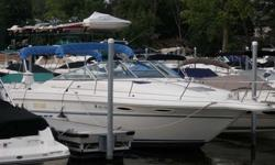 Stock Number: 712313. This boat is in immaculate condition! The last owner even cleaned the bilge. The boat has never seen saltwater and has service records for the last 10 years (available upon request). Twin 300hp Mercury 5.7 ltr . Sleeps 4, 11? beam,