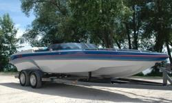 1991 ELIMINATOR 234 EDGE.Talk about a classic! Leave it to Eliminator to take the best qualities of both V bottom and cat and blend it into one of the coolest sport boats ever! The sponsons allow the boat to pack air under the hull and really fly... any