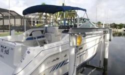 1991 Sea Ray Weekender Upgrades include two rebuilt engines, (one with 3 hours and one with 85 hrs), newly upholstered seating and headliner . This 28' Weekender has a great layout for cruising and fishing and as the name implies an excellent weekend