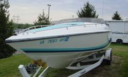 1992 Baja 270 with Mercruiser 502, 415 HP Carb. Silent Choice, Trim Tabs, Drop out Bolsters, Depth Finder, Halon, Keifer Controls, Bravo 1, with trailer - repainted and good tires!