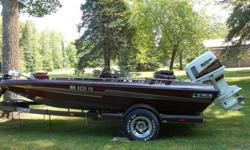 LIKE NEW. IT'S A BEAUTY! 1992 BASS CAT BASS BOAT with 1989 SUSUKI (150 hp) that was installed 1992. Recent thorough inspection and servicing. STORED INDOORS for 10 yrs. NEW BATTERIES (2). On-board depth finders (2 circular) and Si-Tex (2). On-board