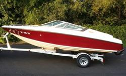 This 1992 Crownline 182 Br is a great starter boat! This boat is powered by a 4.3L Mercruiser(350 hours) which gives it plenty of power to pull a skier or tuber. This vessel also has a seating capacity of 7 and comes priced with a mooring cover and single