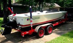 1992 Donzi 22' Classic has a freshly rebuilt 454 ci, 7.4 liter big block with less than 10 hours on the rebuilt motor. Thru hull exhaust with new exhaust manifolds. The boat has 4XX total hours. The outdrive has been serviced for the upcoming boat season