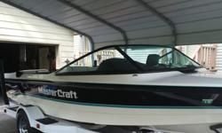 1992 Mastercraft Pro Star 190 that is in incredible shape for the age. The boat was purchased by our family in 1996 and it has been in our garage since. We never leave the boat outside and always wipe the boat down after using. The boat is black and white