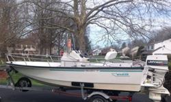 1993 Boston Whaler 15' Dauntless center consoleThe hull is in good shape and the gelcoat buffs out and shines well. Floor and transom are solid and has lots of room to move aroundThe hull is self-bailing with rear scuppers and small bilge with pump.Has a