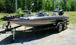 1993 Javelin 389T Bass Boat. Excellent condition. New carpet and all new seats. Motor topend was rebuilt last year and has less than 20 hrs on it. Great Bass Fishing Boat. Dual Axle Javelin trailer with surge brakes and swing away tounge. 12/24v trolling