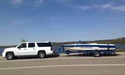 Go skiing when ever you want in Florida. We have the boat for you. As you can see in pictures the boat is in very good shape. Has a barefoot boom that is included. Nice carpet and interior. Upgraded marine speaker system with amplifier under enclosed bow.
