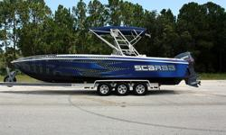 1993 Scarab 302 Sport!!Twin Yamaha Vx250s!!Completely ReBuilt Motor with Only 4 Hours Run Time!!!Perfect Compression on BOTH Motors!!!Anodized Aluminum Radar Arch w/ Bimini!!Whole Boat Renovated in Last Year!!Great Condition Inside and Out!!!!Runs
