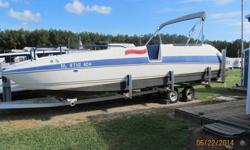 1994 Bayliner Rendevouz. 26? deck boat/party barge. This boat has a unique hull that is designed to run smooth in rough water. The deck is gel coat, and is self bailing. Powered by 175 hp Mercury Black Max.Equipped with a potty closet, lots of storage