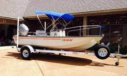 1994 Boston Whaler Montauk 17. Powered by the original 1994 Mariner 100hp 2 stroke outboard. Hull color is desert tan. This is the last year of the desert tan color. Boat is in great condition and comes with a new Fusion marine radio and Lowrance Elite-4