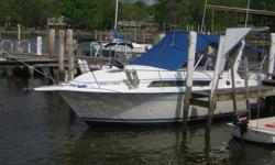 1994 CARVER MIDCABIN EXPRESS Priced to sell $17,800 USDENGINE Mercruiser 7.4L Bravo III 300 hpRUN TIME 280 hoursLOA (W/platform and pulpit) 29?10? (9.09m)BEAM 9?6? (2.90m)DRAFT 39? (0.99m)WEIGHT 5,900 lbsWATER 25 gals. (95 liter)WASTE 18 gals. (68